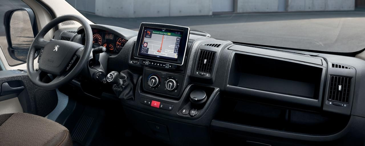 Peugeot Boxer -  Navigatiesysteem en het 9 inch touchscreen