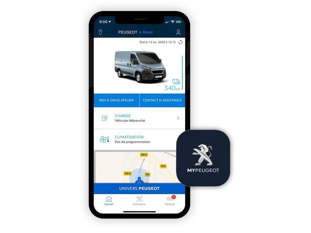 Nieuwe Peugeot e-BOXER – MyPeugeot App