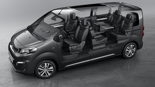 Peugeot Traveller Business - verschillende configuraties zitplaatsen