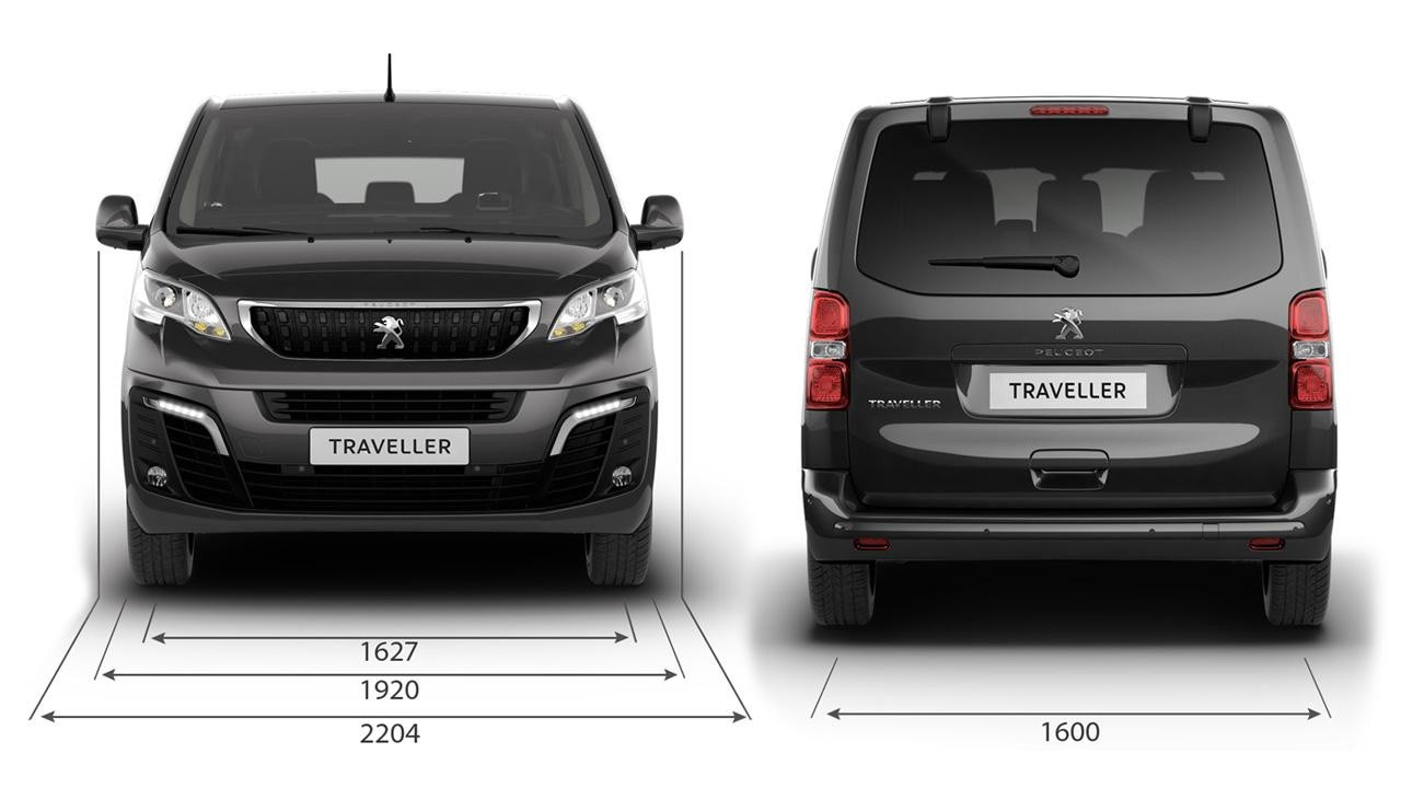 Peugeot Traveller Business - afmetingen hoogte en breedte