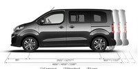 Peugeot Traveller Business - afmetingen lengte