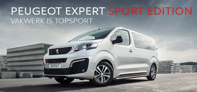 Peugeot Expert Sport Edition - Vakwerk is Topsport