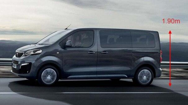 Peugeot EXPERT COMBI – slechts 1,90 m hoog