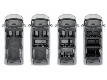 Peugeot Expert Combi - configuraties zitplaatsen