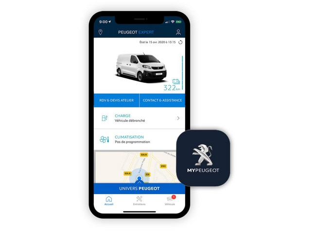 Nieuwe Peugeot e-EXPERT – MyPeugeot App