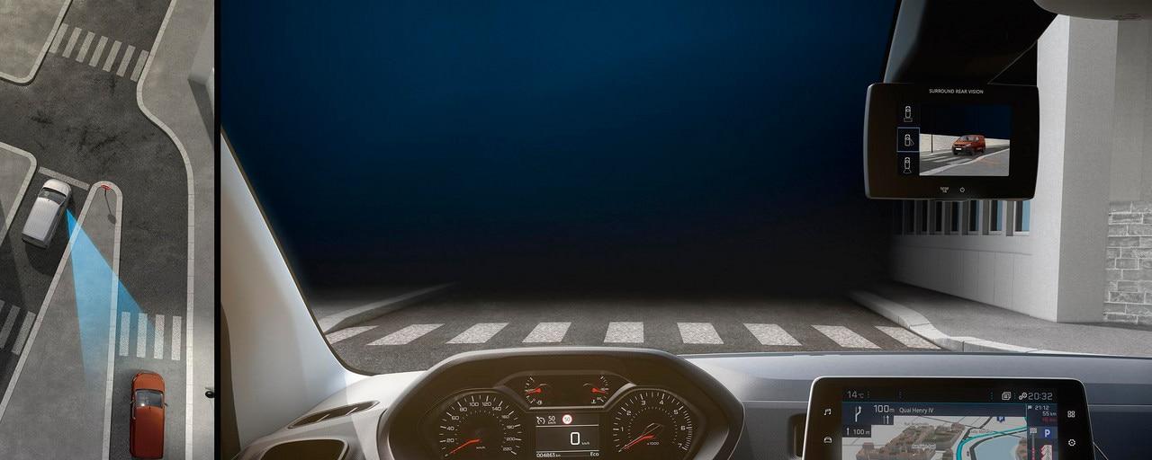 Peugeot Partner - interieur Surround Rear Vision