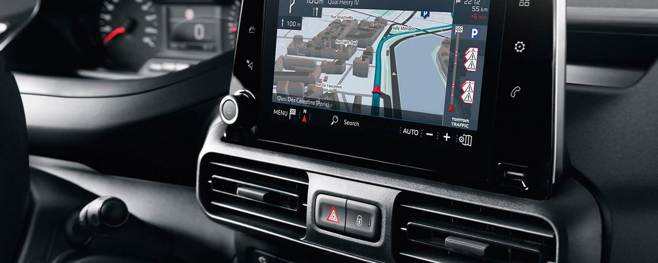 Peugeot Partner - interieur Connect 3D-navigatiesysteem