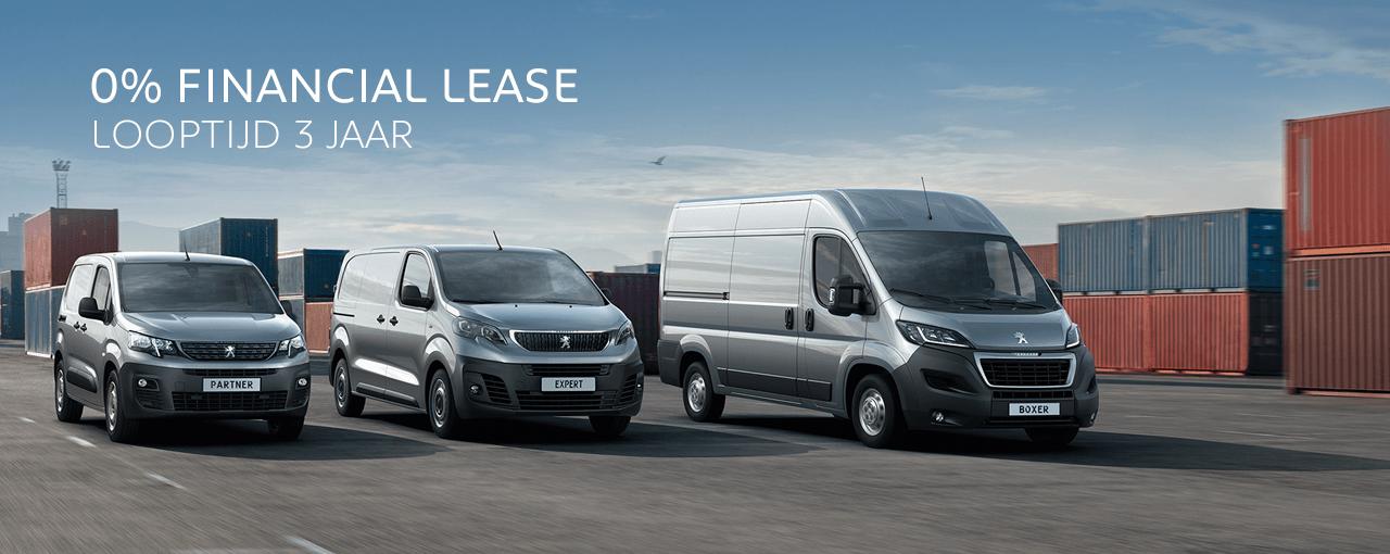 0% Financial Lease - Peugeot bedrijfsauto's