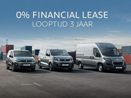 0% Financial Lease - Peugeot bedrijfsauto's