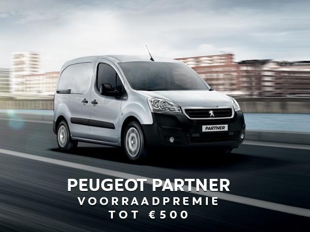 Peugeot Partner - Voorraadpremie